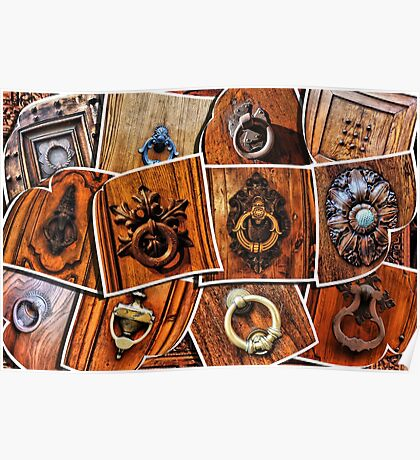 A few pictures of italian door knockers and knobs Poster