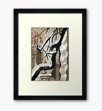 Curvy Framed Print