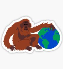Earth Day Orangutan Sticker