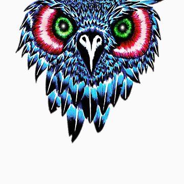 Blue Owl Head by Mickie
