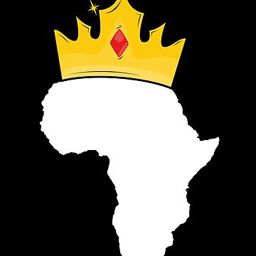 African King T-Shirt for Men Boy Africa Crown History Month by 14thFloor