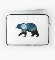 Starry Cosmic Forest Spirit Bear Laptop Sleeve