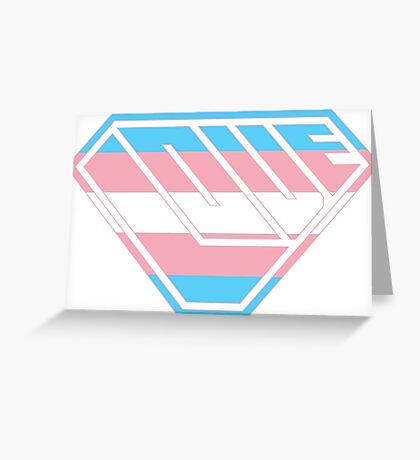 Love SuperEmpowered (Blue, Pink & White) Greeting Card