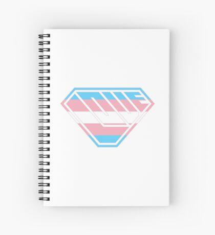 Love SuperEmpowered (Blue, Pink & White) Spiral Notebook