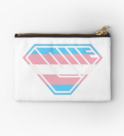 Love SuperEmpowered (Blue, Pink & White) Zipper Pouch