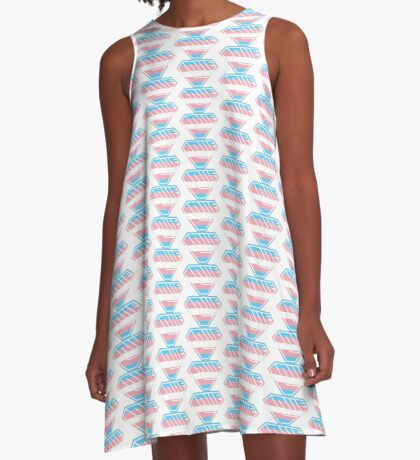 Love SuperEmpowered (Blue, Pink & White) A-Line Dress