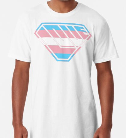 Love SuperEmpowered (Blue, Pink & White) Long T-Shirt