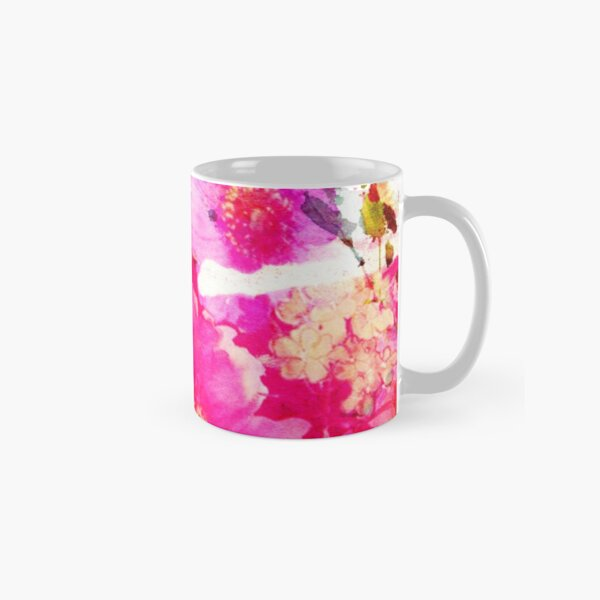 flower and splash in pink Classic Mug