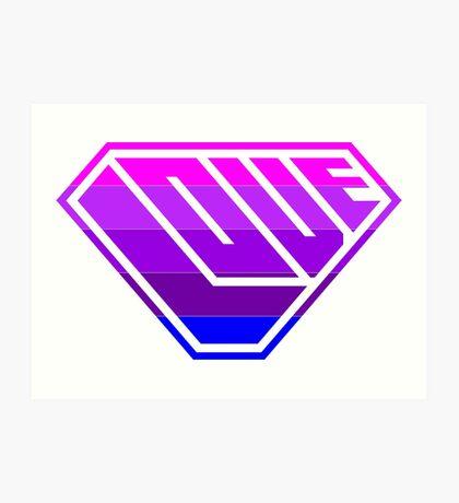 Love SuperEmpowered (Light Pink, Purples & Blue) Art Print