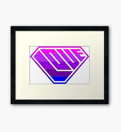 Love SuperEmpowered (Light Pink, Purples & Blue) Framed Print
