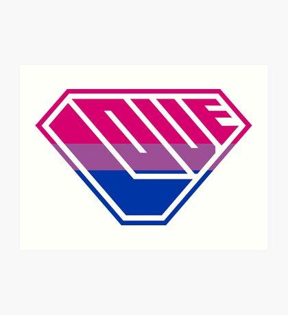 Love SuperEmpowered (Pink, Purple & Blue) Art Print