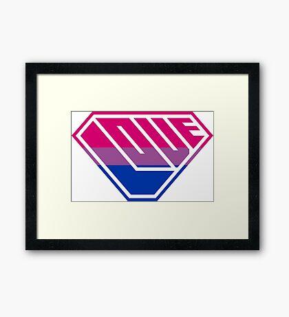 Love SuperEmpowered (Pink, Purple & Blue) Framed Print