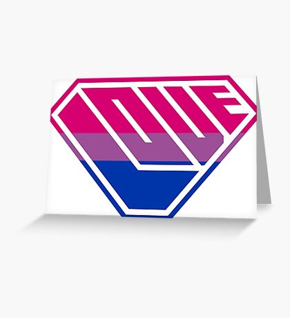 Love SuperEmpowered (Pink, Purple & Blue) Greeting Card