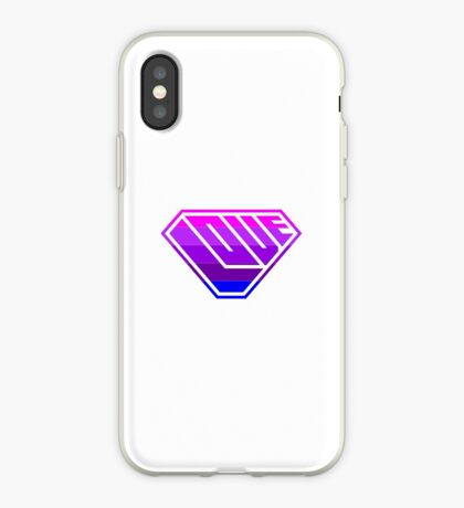 Love SuperEmpowered (Light Pink, Purples & Blue) iPhone Case