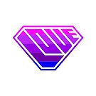 Love SuperEmpowered (Light Pink, Purples & Blue) by Carbon-Fibre Media
