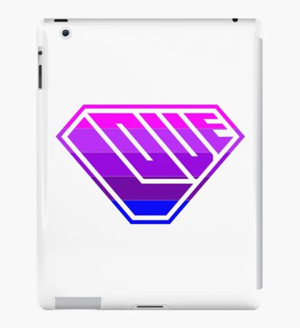 Love SuperEmpowered (Light Pink, Purples & Blue) iPad Case/Skin
