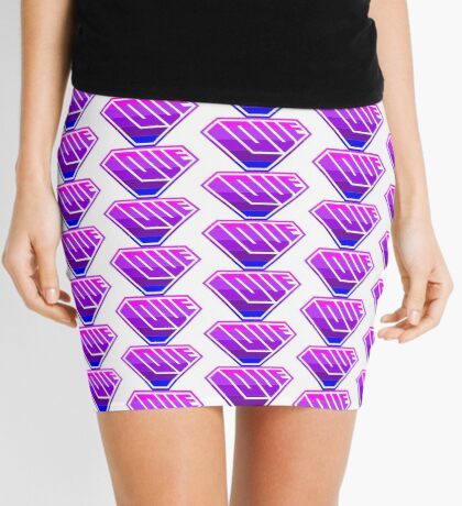 Love SuperEmpowered (Light Pink, Purples & Blue) Mini Skirt