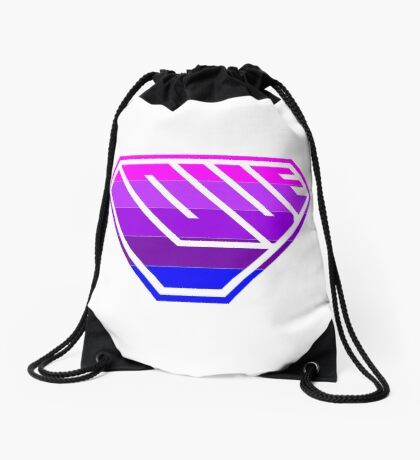 Love SuperEmpowered (Light Pink, Purples & Blue) Drawstring Bag