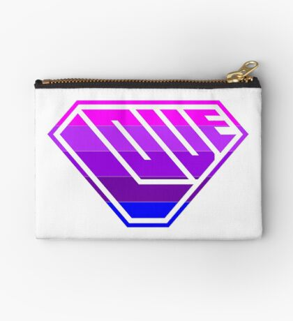 Love SuperEmpowered (Light Pink, Purples & Blue) Studio Pouch