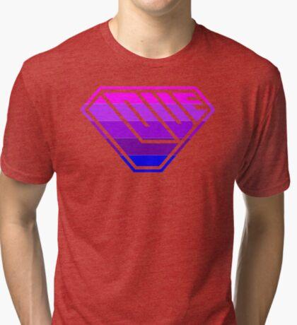 Love SuperEmpowered (Light Pink, Purples & Blue) Tri-blend T-Shirt