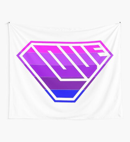 Love SuperEmpowered (Light Pink, Purples & Blue) Wall Tapestry