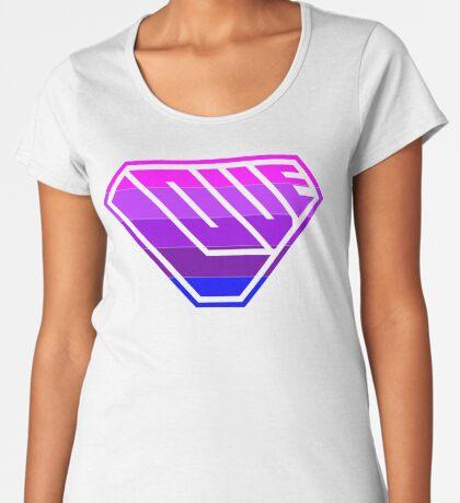 Love SuperEmpowered (Light Pink, Purples & Blue) Women's Premium T-Shirt