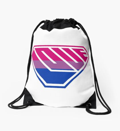 Love SuperEmpowered (Pink, Purple & Blue) Drawstring Bag