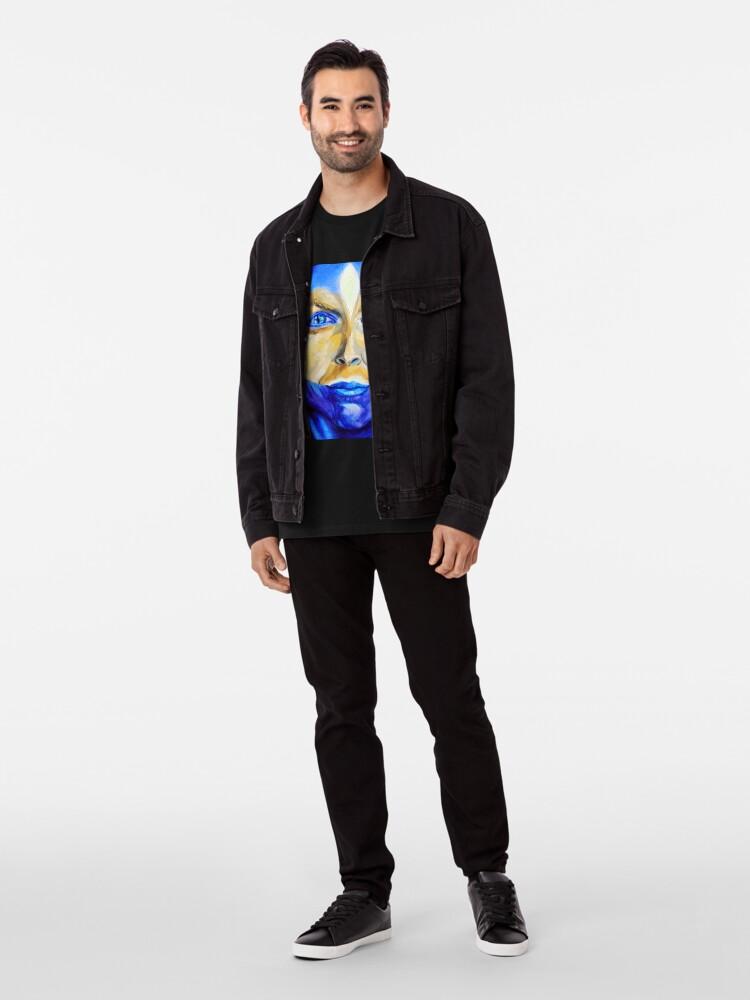 Alternate view of Blue Download (self portrait) Premium T-Shirt