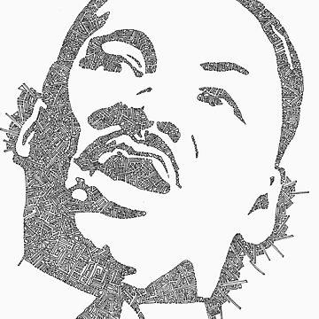 Martin Luther King Garabato by JeffBowan