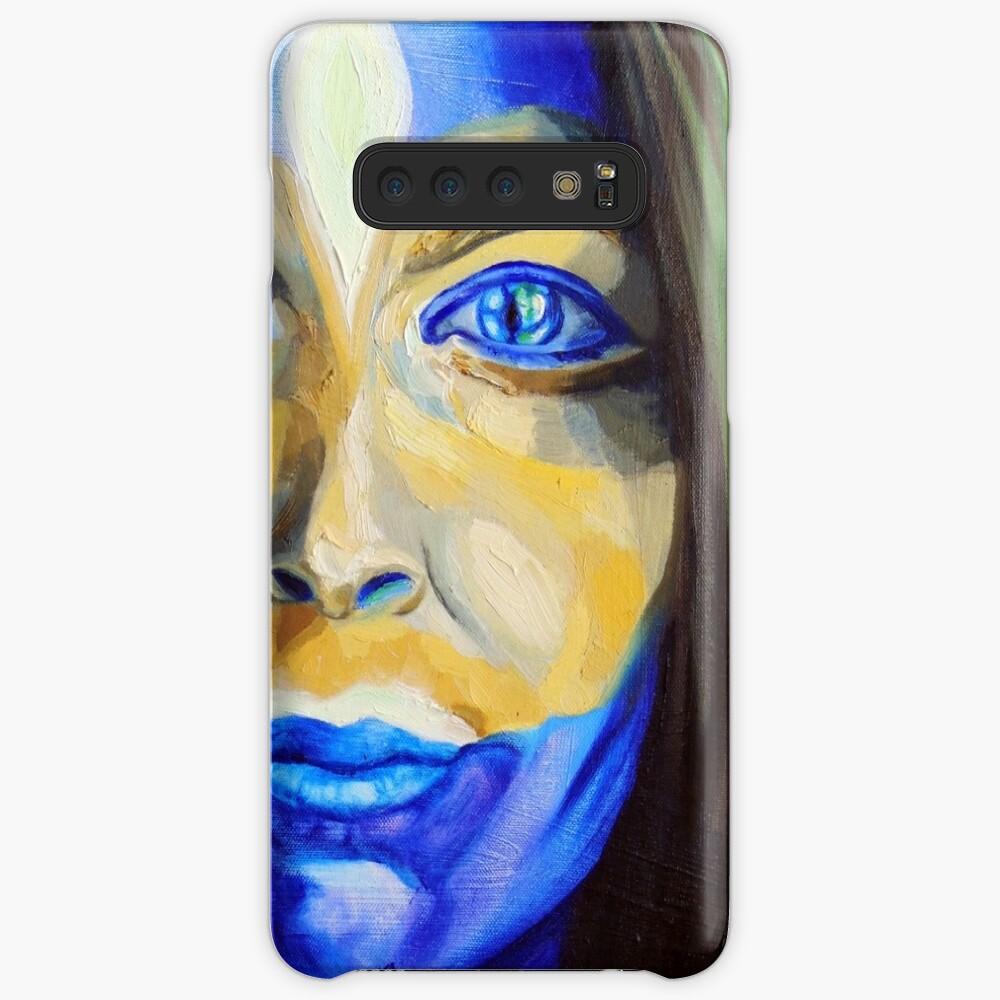 Blue Download (self portrait) Case & Skin for Samsung Galaxy