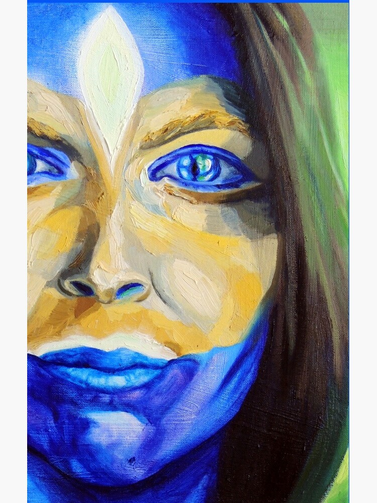 Blue Download (self portrait) by BlueStarseed