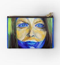 Blue Download (self portrait) Studio Pouch