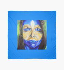 Blue Download (self portrait) Scarf