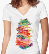 Blur Women's Fitted V-Neck T-Shirt