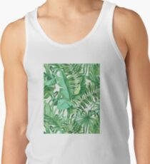 Green tropical leaves II Tank Top