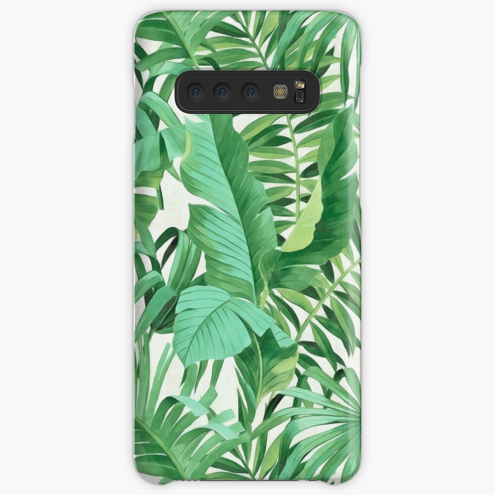 Green tropical leaves II Cases & Skins for Samsung Galaxy