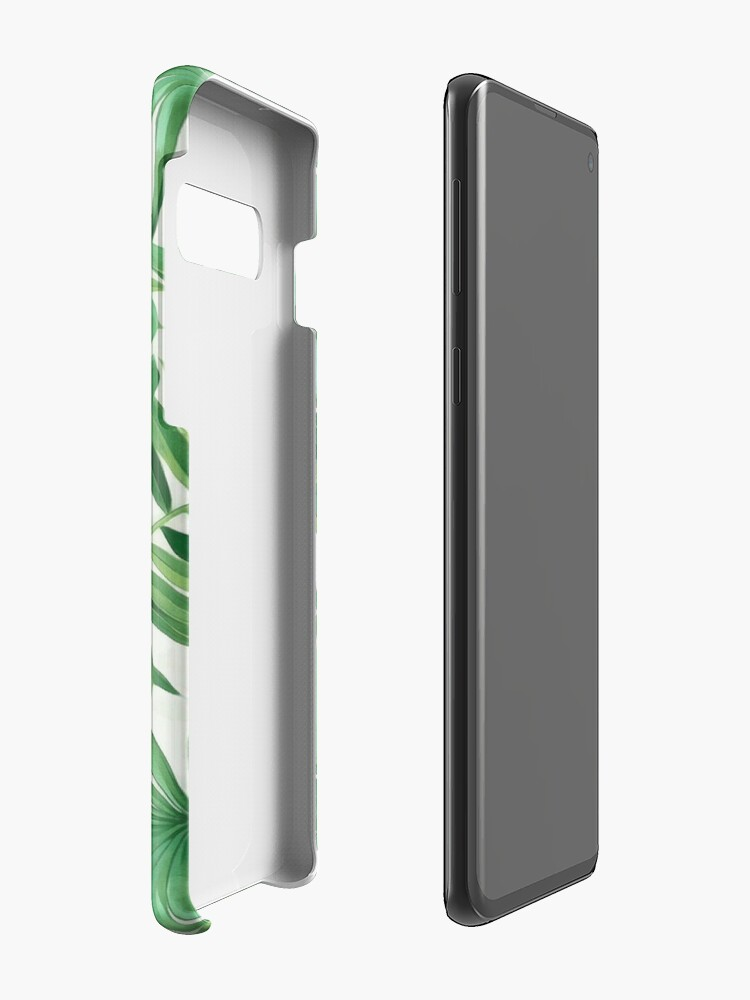 Alternate view of Green tropical leaves II Cases & Skins for Samsung Galaxy