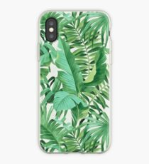 Green tropical leaves II iPhone Case
