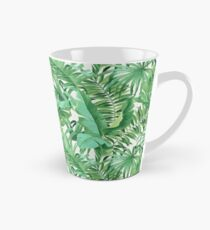 Green tropical leaves II Tall Mug