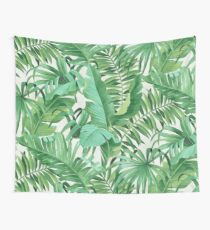 Tela decorativa Green tropical leaves II