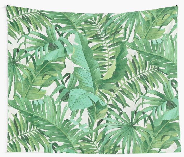 Green tropical leaves II by CatyArte