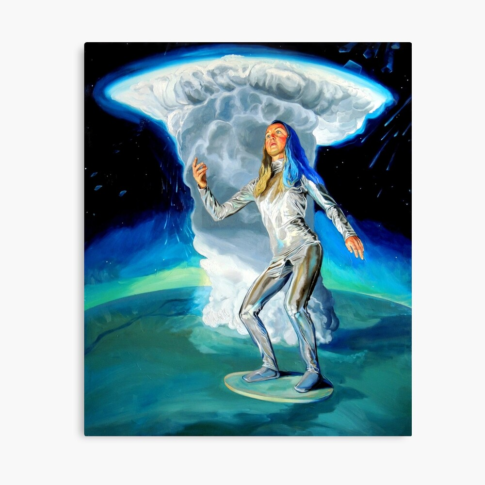 Space Woman Knows the Way Canvas Print