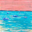 Sail Boats at Dusk  by BlossomRevival