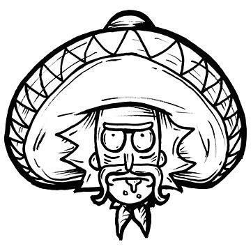 Mexican Rick Sanchez from Rick and Morty™ by sketchNkustom