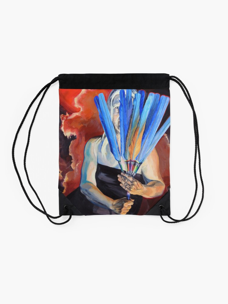 Alternate view of You Cannot Hide Any Longer Drawstring Bag