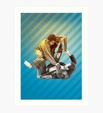Jiu Jitsu Spider Guard  Art Print