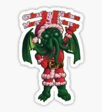 A Cthulhu Christmas time Sticker