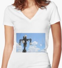 Under The Sky Women's Fitted V-Neck T-Shirt