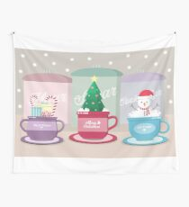 Christmas Cups Wall Tapestry
