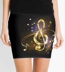 Golden Musical Key Mini Skirt